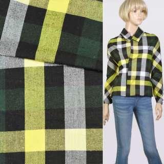 Шотландка желто-бело-зелено-черная, ш.145 оптом