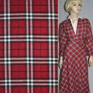 Шотландка красная с черно-белым ш.145 оптом