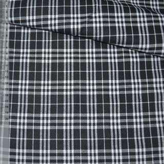 Шотландка черно-белая ш.140 оптом