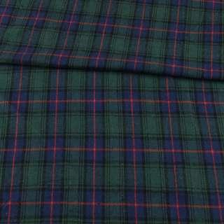 Шотландка синя в зелено-червону клітку ш.144 оптом