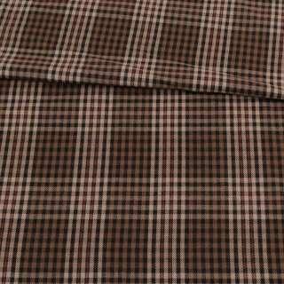 Шотландка коричневая в бежево-красную клетку, ш.150 оптом
