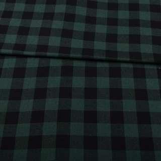 Шотландка зеленая темная в черную клетку ш.145 оптом