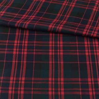 Шотландка чорно-зелена в червону клітку ш.144 оптом