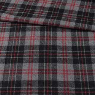 Шотландка сіра в чорно-червону клітину ш.152 оптом