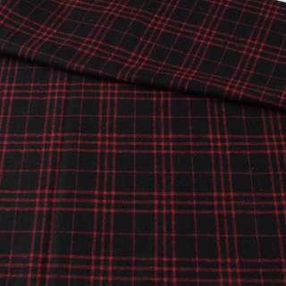 Шотландка чорна в червону клітину ш.152 оптом