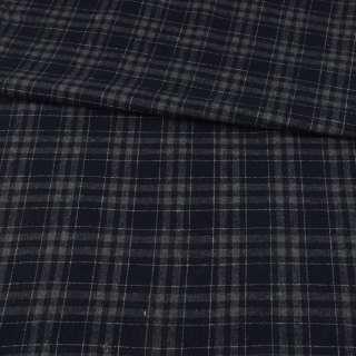 Шотландка синя темна в сіру клітину ш.150 оптом