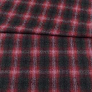 Шотландка сіра темна в бордово-рожеву клітку ш.148 оптом
