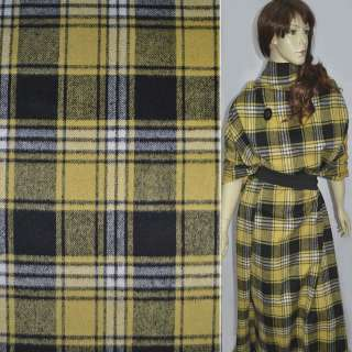 шотландка в черно-желтую клетку, ш.150 оптом