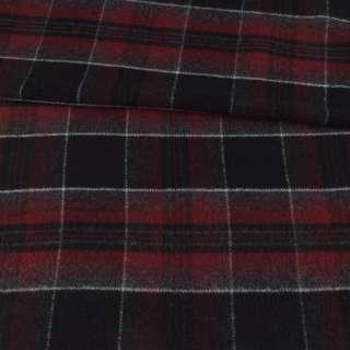 Шотландка чорна в бордово-серую клітину ш.155 оптом