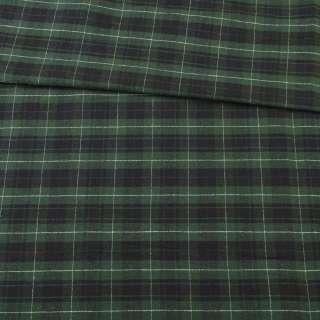 Шотландка зелено-черная в белую клетку, ш.142 оптом
