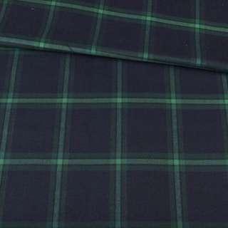 Шотландка синяя темная в зеленую клетку, ш.150 оптом