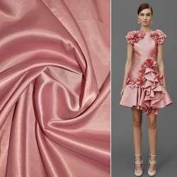 Коттон-атлас розово-серый ш.150