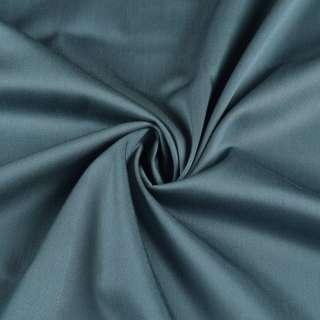 Коттон бистрейч с атласным отливом бирюзовый темный, ш.150 оптом