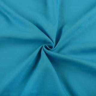Хлопок со льном голубой яркий ш.150 оптом