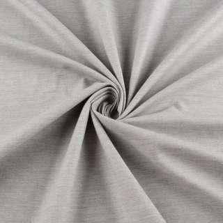 Коттон стрейч серый светлый меланж ш.150 оптом
