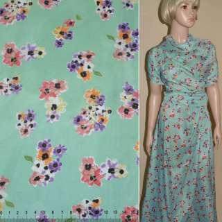 Купра диллон голубая с мелкими цветами ш.150 оптом