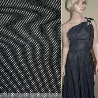 Купра диллон черная в мелкий белый горох ш.145 оптом