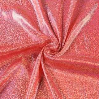 Трикотаж красный с серебристой голограммой ш.150 оптом