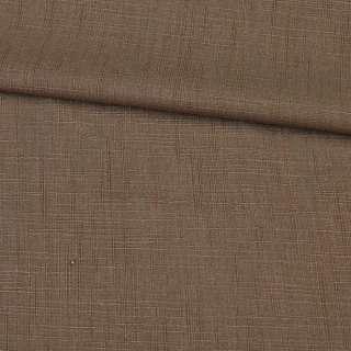 лен кост. светло-коричневый с хлопком, ш.140 см оптом