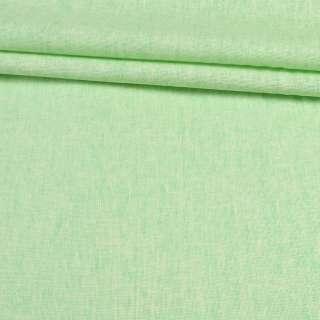 Лен коттон зеленый светлый, ш.150 оптом