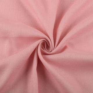 Лен стрейч с хлопком бежево-розовый ш.145 оптом