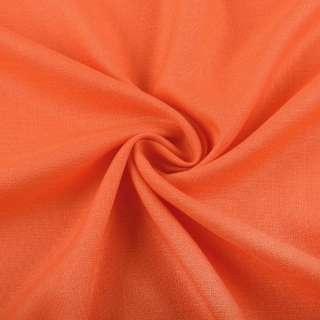 Лен стрейч с хлопком оранжевый ш.145 оптом