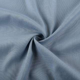 Лен стрейч с хлопком серо-голубой ш.145 оптом