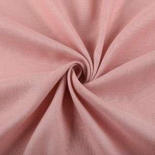 Лен стрейч с хлопком розово-серый ш.145 оптом