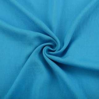 Лен с вискозой голубой яркий ш.145 оптом