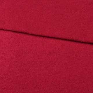 Лоден шерстяной костюмный красный темный, ш.155 оптом