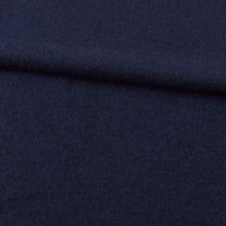 Лоден шерстяной костюмный синий темный, ш.155 оптом