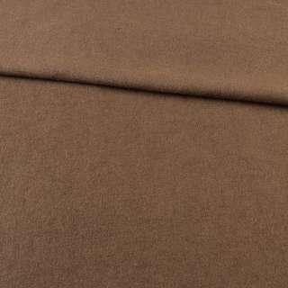 Лоден шерстяной костюмный коричневый, ш.155 оптом