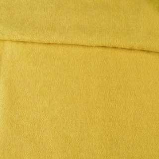 Лоден мохеровый пальтовый желтый, ш.160 оптом