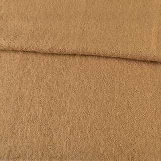 Лоден мохеровый пальтовый бежевый, ш.160 оптом