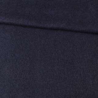 Лоден мохеровый пальтовый синий темный, ш.155 оптом