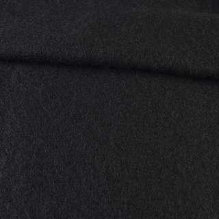 Лоден мохеровый пальтовый черный, ш.160 оптом