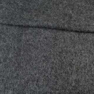 Лоден мохеровый черно-серый меланж, ш.150 оптом