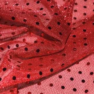 луска червона з дрібними круглими паєтками ш.100 оптом