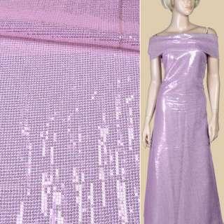 Пайетки* розовые блестящие, настроченные полосами на белой сетке, ш.135 оптом