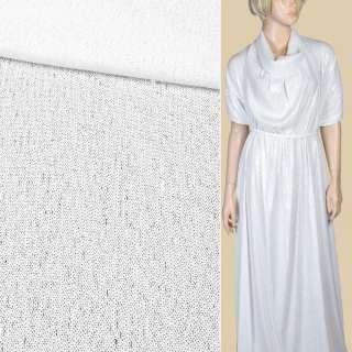 Пайетки* белые полуматовые, настроченные полосами на белой сетке, ш.140 оптом
