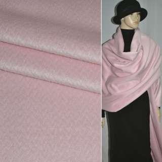 Альпака розовая в елочку, ш.150 оптом