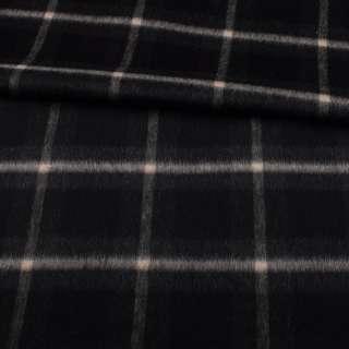 Альпака чорно-сіра в велику бежеву клітку ш.153 оптом