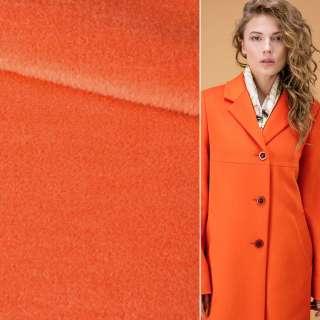 Альпака-лоден на трикотажной основе оранжевая яркая ш.152 оптом