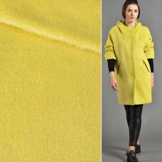 Альпака-лоден на трикотажной основе желтая яркая ш.155 оптом