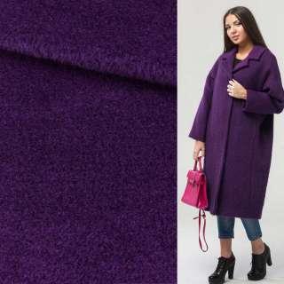 Альпака-лоден на трикотажной основе фиолетовая ш.160 оптом
