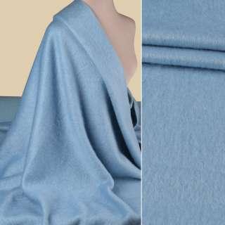 Пальтова тканина з ворсом блакитна, ш.155 оптом