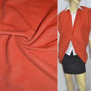 ворсовая пальтовая оранжевая ш.140 оптом