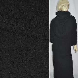 Тк. пальтовая черная  (ворсовая) ш. 150 см. оптом
