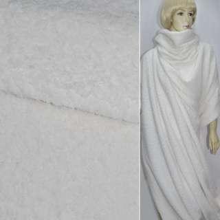 Ткань пальтовая белая  (ворсовая) ш. 150 см. оптом