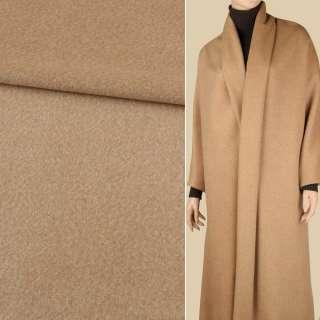 Пальтова тканина з ворсом меланж бежева, ш.152 оптом